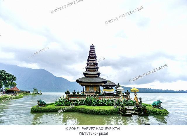 Bali, Indonesia - December 23, 2016: Pura Ulun Danu temple on a lake Beratan in Bali, Indonesia on December 23, 2016