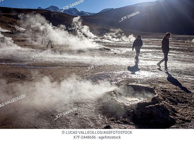 El Tatio geysers, Atacama desert. Region de Antofagasta. Chile