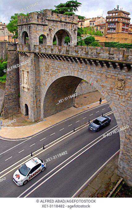 Portal Nuevo of the wall of the Ciudadela, Pamplona, Navarra, Spain