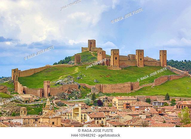 Castilla, Castile, Guadalajara, La Mancha Region, Molina de Aragon, architecture, castle, fortress, green, history, Spain, Europe, walls