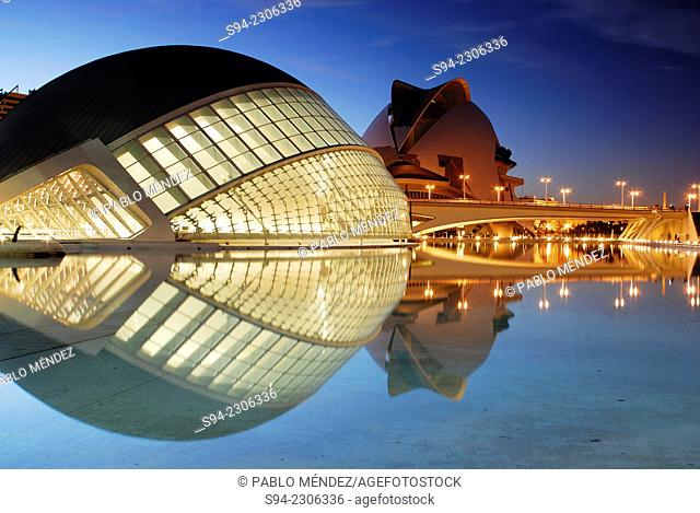 Hemisferic. City of Arts and Sciences in Valencia city, Spain