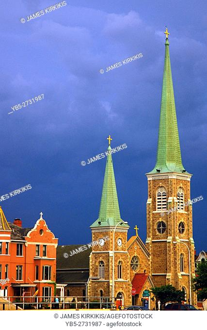 St Mary's of the Cataract in an Approaching Storm, Niagara Falls