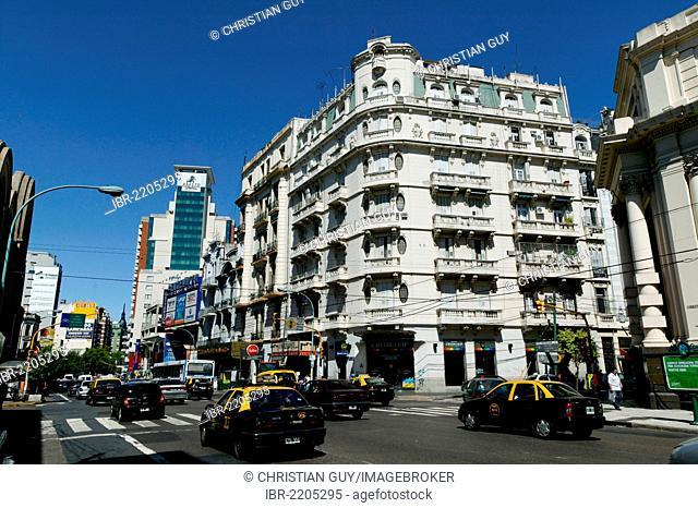 Avenida Corrientes, Corrientes Avenue, Buenos Aires, Argentina, South America