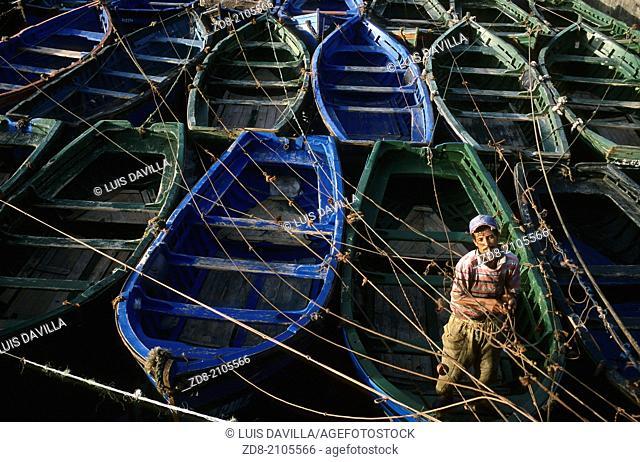 fisherman port.essaouira. morocco
