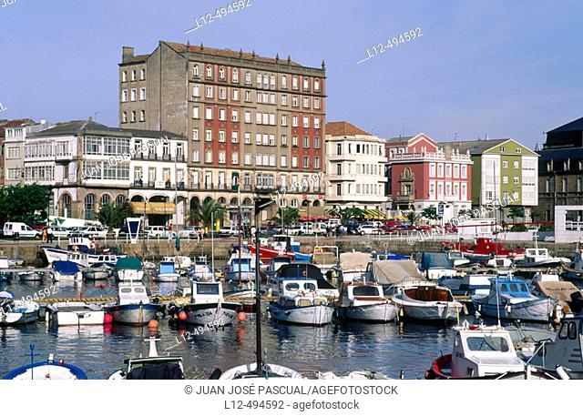 Port, El Ferrol. La Coruña province, Galicia, Spain