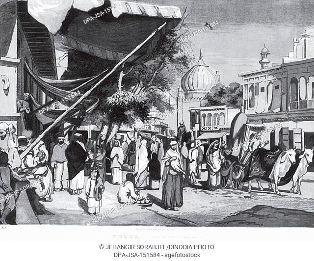 A street at back of Jumma masjid ; Delhi ; India