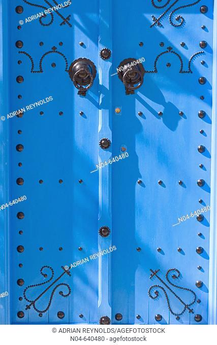 Bright blue doorway, Sidi Bou Said. Tunisia