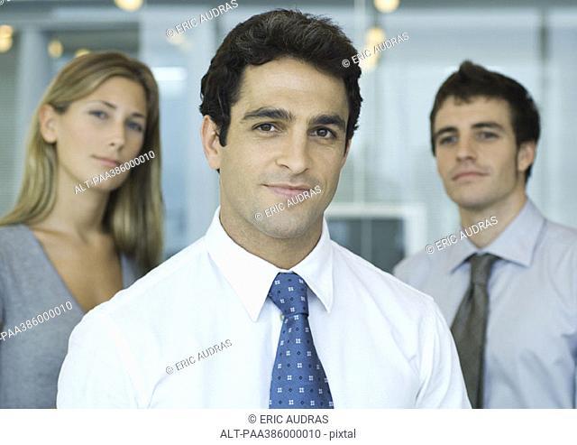 Three business associates, portrait