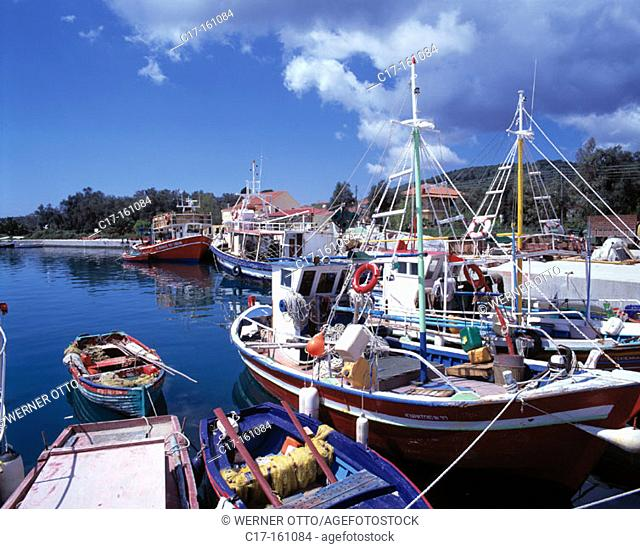 Fishing port. Petriti. Corfu. Greece