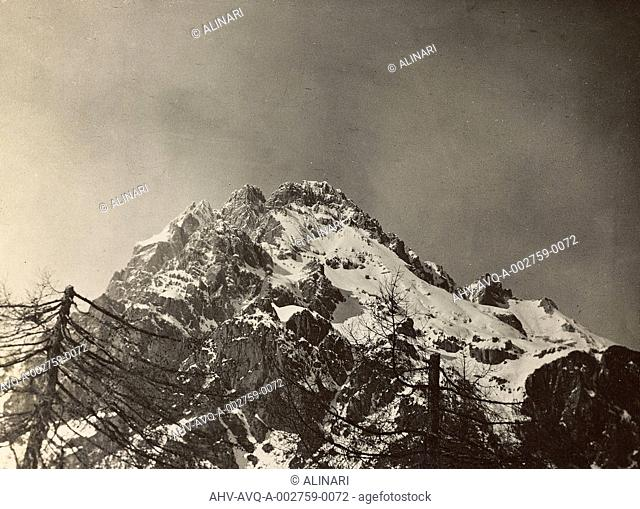 World War I: the top of the Antelao, shot 1916-1917
