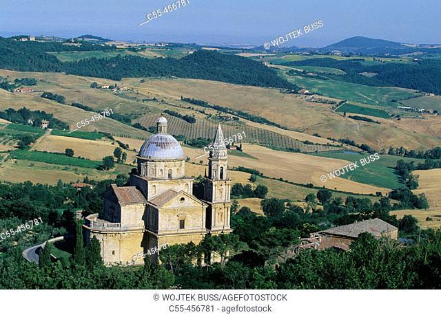 Church of the Madonna di San Biagio (16th century), Montepulciano. Tuscany, Italy