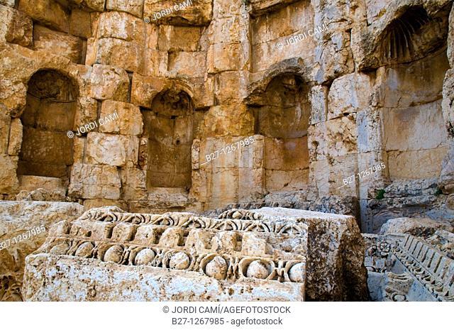 Great courtyard, archaelogical site of Baalbek,UNESCO World Heritage Site  Bekaa valley  Lebanon