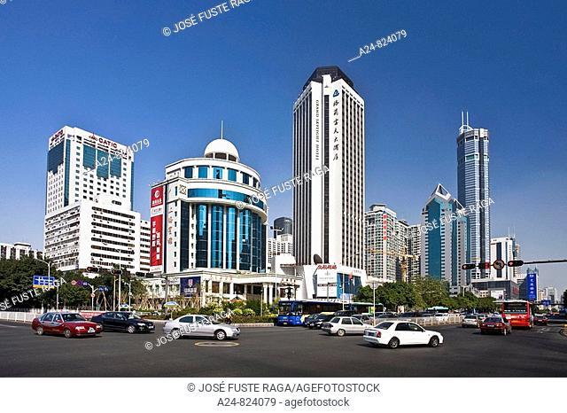 Shennan Lu Avenue, Shenzhen City, China (November 2008)
