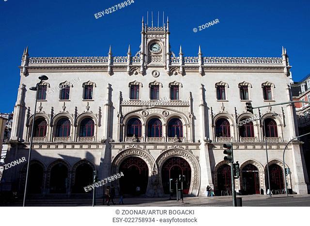 Rossio Railway Station in Lisbon