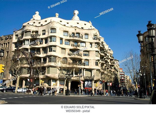 Milà House (aka La Pedrera by Gaudi, 1906-1912), Barcelona. Catalonia, Spain