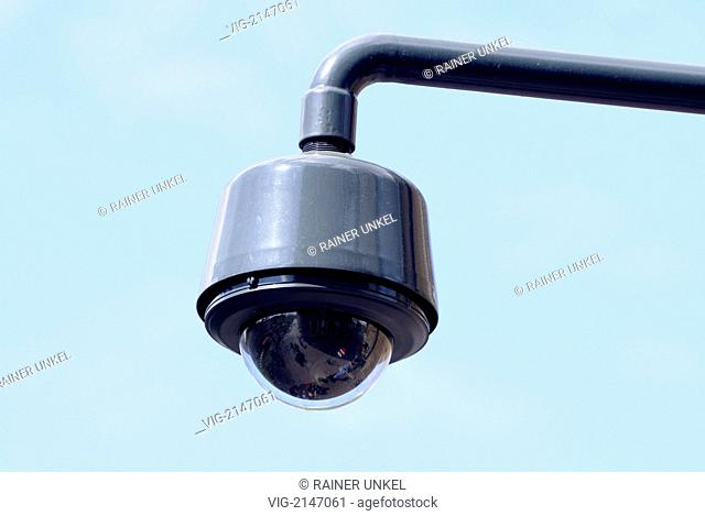 NETHERLANDS, UTRECHT, 21.04.2010, A surveillance camera in Utrecht - Utrecht, Utrecht, NNetherlands, 21/04/2010