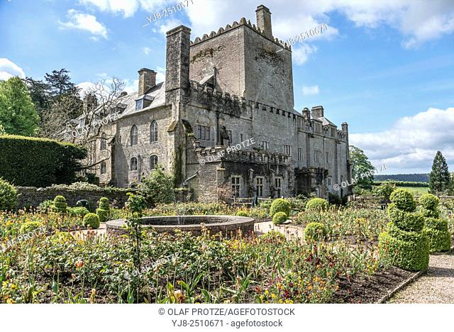 Buckland Abbey and Gardens, a 700-year-old house in Buckland Monachorum, near Yelverton, Devon, England