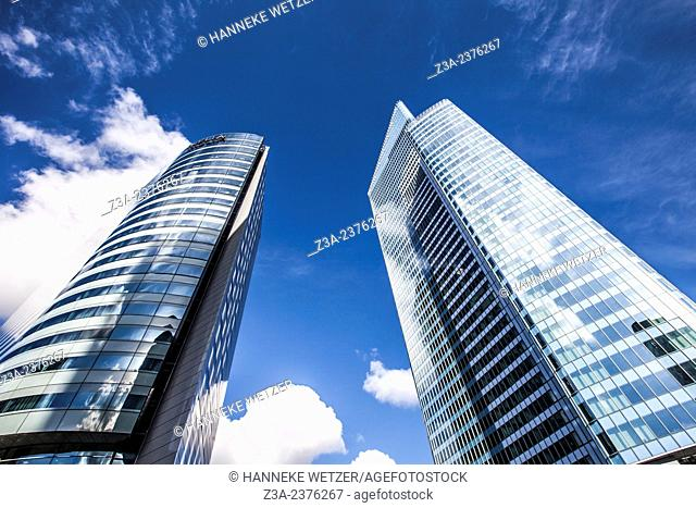 Euler Hermes Headquarters and Meliá Paris La Defense, skyscrapers of La Défense, Europe's largest purpose-built business district, Paris, France