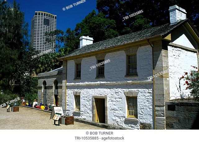 Sydney NSW Australia The Rocks CadmanÕs Cottage 1816 Oldest Surviving Building in Sydney