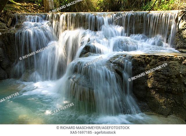 Kouang Si waterfall and pools near Luang Prabang, Laos