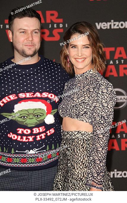 """Cobie Smulders at the World Premiere of Lucasfilm's """"""""Star Wars: The Last Jedi"""""""" held at the Shrine Auditorium in Los Angeles, CA, December 9, 2017"""