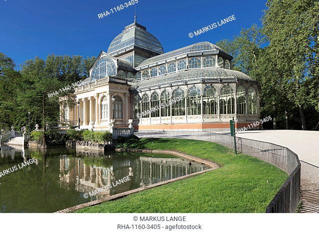 Crystal Palace (Palacio de Cristal), Retiro Park (Parque del Buen Retiro), Madrid, Spain, Europe