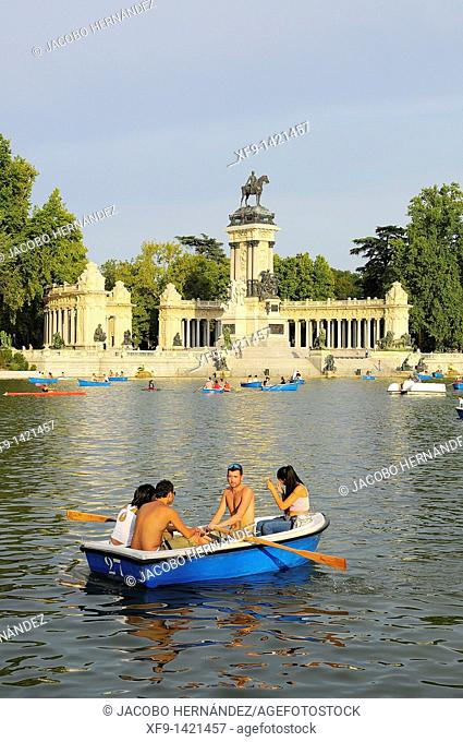 Retiro Park. Madrid. Spain