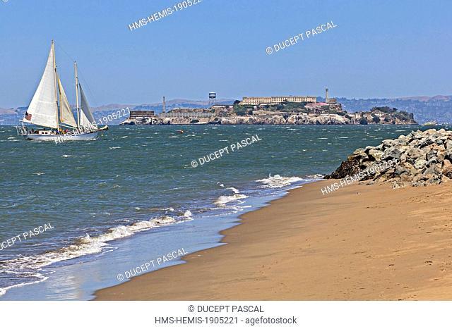 United States, California, San Francisco, Golden Gate National Recreation Area, Alcatraz Island in San Francisco Bay