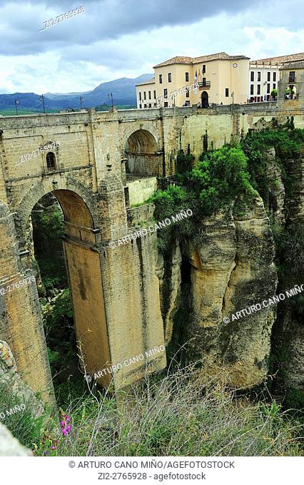 The Tajo or New Bridge. Ronda, Málaga province, Spain