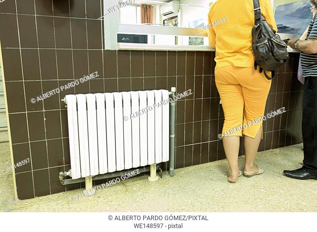 white radiator in hospital valence, Spain