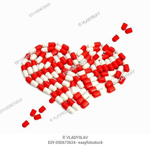 Arrow red pill Stock Photos and Images | age fotostock
