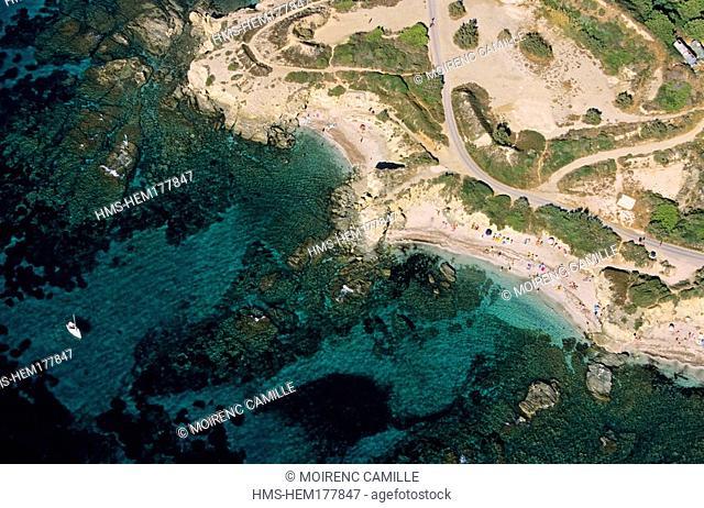 France, Var, Ile des Embiez aerial view