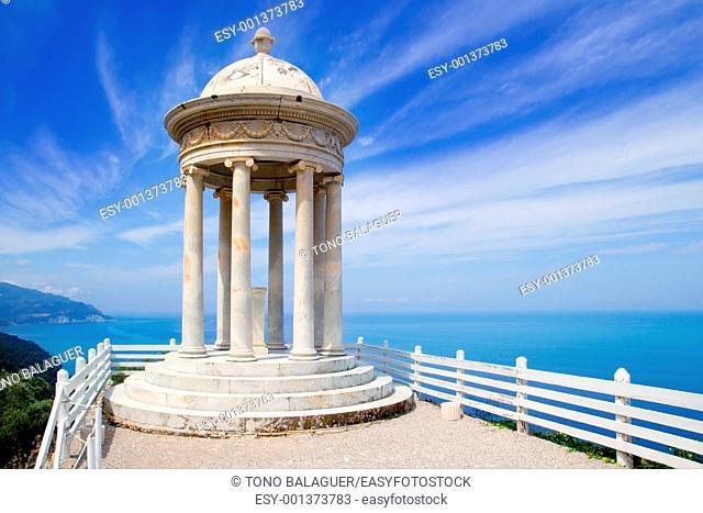 es Galliner mirador in Son Marroig over Mediterranean Majorca sea