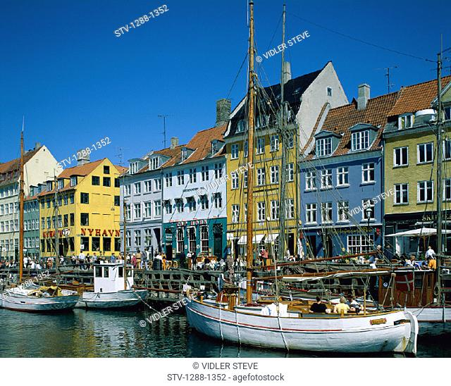 Boats, Copenhagen, Denmark, Europe, Holiday, Landmark, Nyhavn, Scandinavia, Tourism, Travel, Vacation, Waterfront