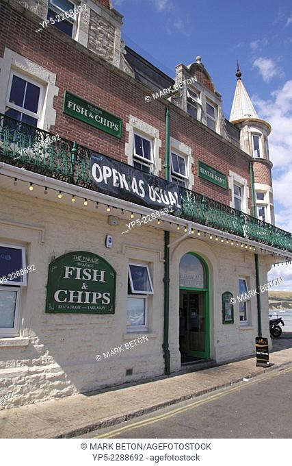 The Parade Fish and Chips Restaurant Swanage Dorset England