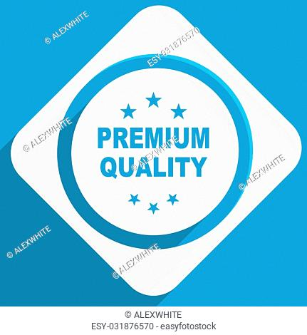 premium quality blue flat design modern icon for web and mobile app