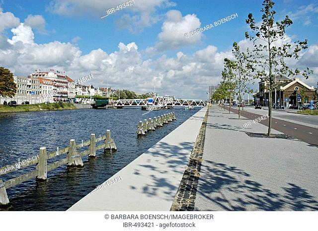 Bridge, main station, Middelburg Zeeland Holland the Netherlands