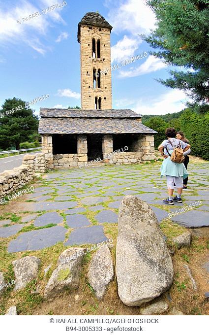 The Romanesque church of Sant Miquel d'Engolasters. Andorra. Europe