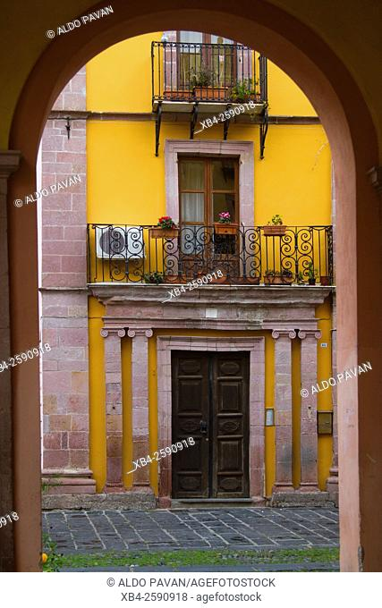 Entrance of a house in the center, Bosa, Sardinia, Italy