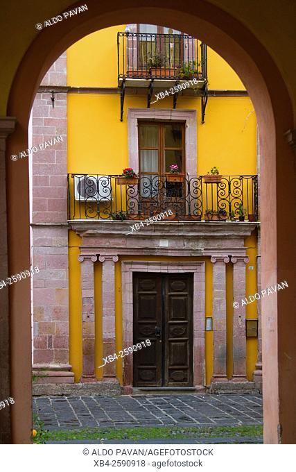 Entrance of a house in the center, Bosa, Sardinia, Italy