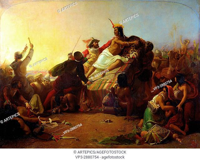 Millais, John Everett (Sir) - Pizarro Seizing the Inca of Peru