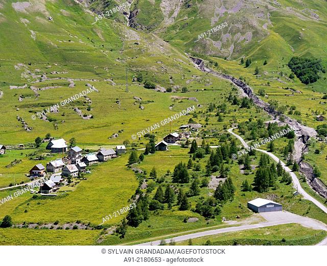 France, Savoie, Valloire neighbourhood, village of Bonnenuit