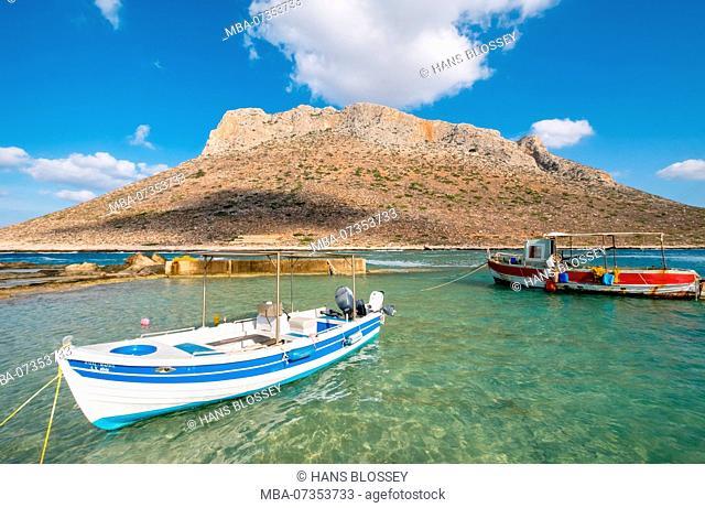 Stavros, Gold Coaster Bay, Zorbas Beach, movie set for the movie Alexis Zorbas, Akrotiri Peninsula, Dream Beach, Chania, Crete, Greece, Europe, Greece