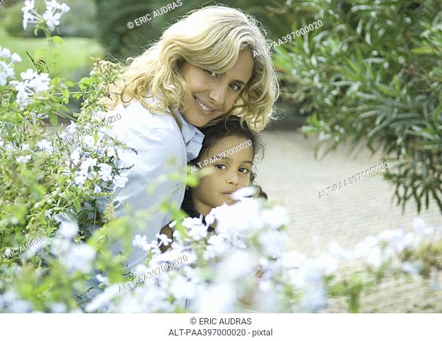Mature woman with granddaughter