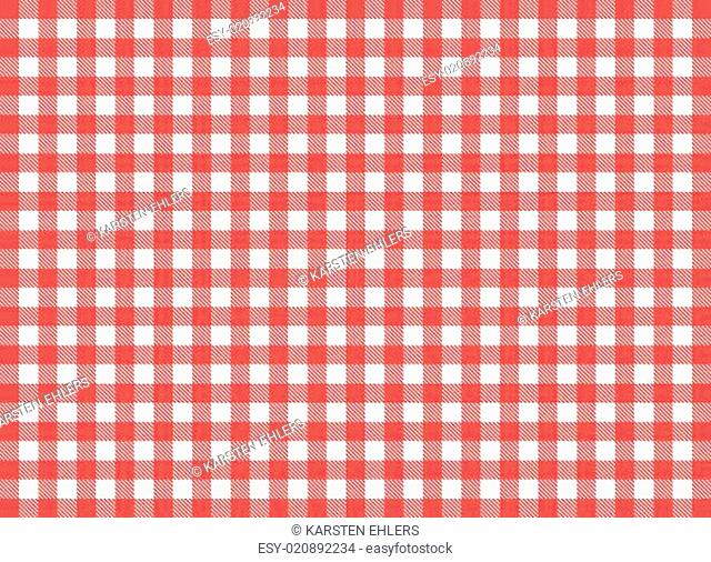 rustic tablecloth pattern as a background white red