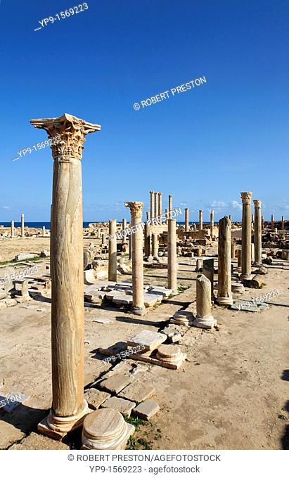 Roman columns at Sabratha, Libya