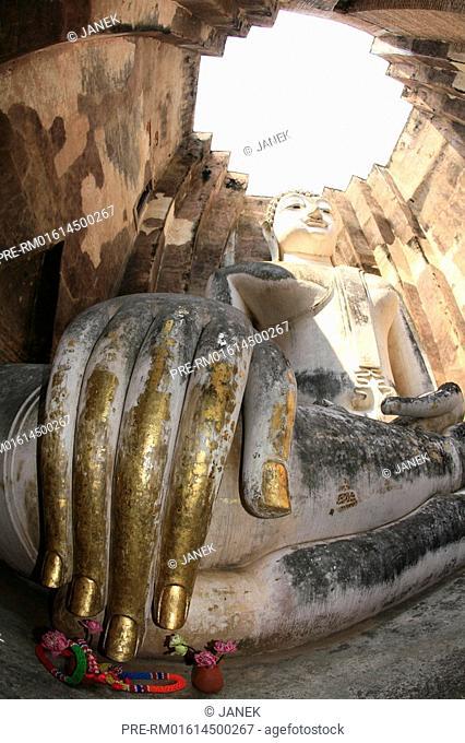 Buddha, Old Sukhothai, Wat Si Chum, Thailand, Asia