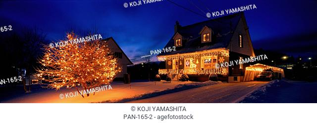 House with Christmas Lights, Laurentians, Canada, No Release