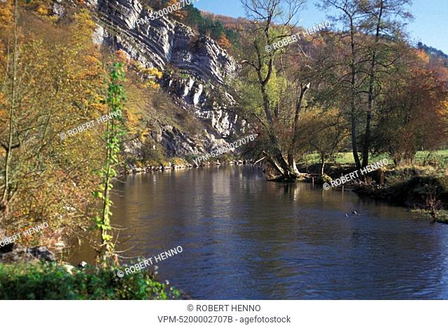 DURBUYVALLEY OF THE RIVER OURTHECLIFFSARDENNES - BELGIUM