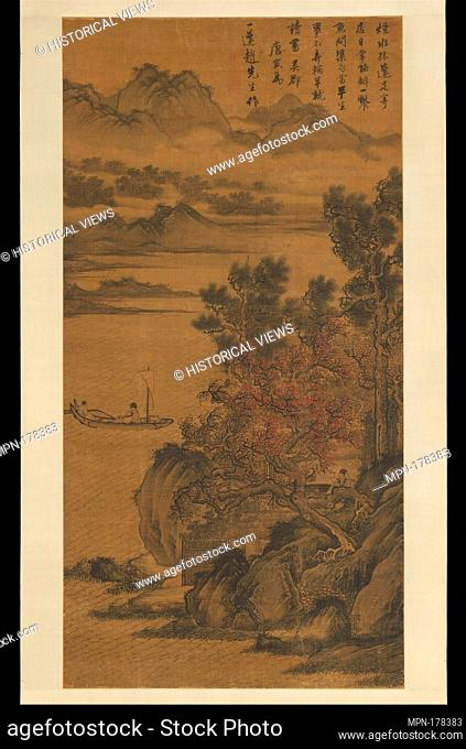 Landscape for Zhao Yipeng. Artist: After Tang Yin (Chinese, 1470-1524); Period: Ming dynasty (1368-1644); Date: late 15th-early 16th century; Culture: China;...